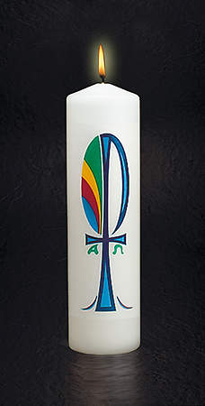 "Chi-Rho Candle 3"" X 11"""