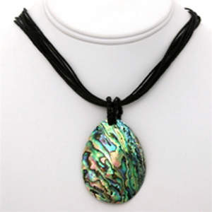Java Abalone Necklace - Tear Drop