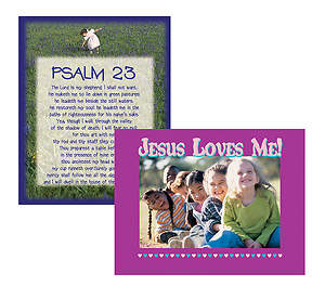 Psalm 23 & Jesus Loves Me Poster Sets