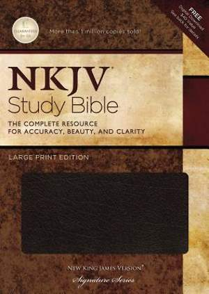 New King James Version Study Bible Large Print Edition
