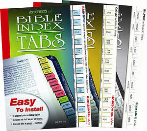 Horizontal Gold Verse Finders Bible Tabs