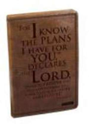 Jeremiah 29:11 Brown Flexcover Journal