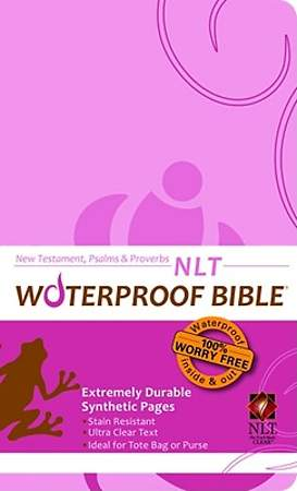 Waterproof New Testament with Psalms and Proverbs-NLT-Pink