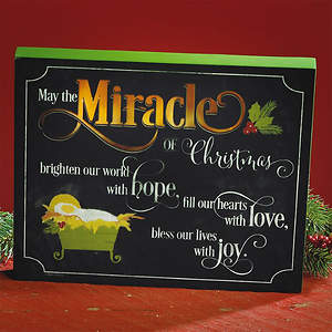 Miracle of Christmas LED Plaque