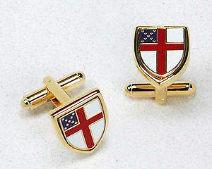 Gold Plated Episcopal Shield Cufflinks