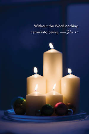 Without the Word Candlelighting Bulletin 2015, Regular (Package of 50)
