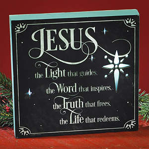 Jesus LED Plaque