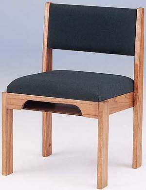 Oak Stackable Choir Chair