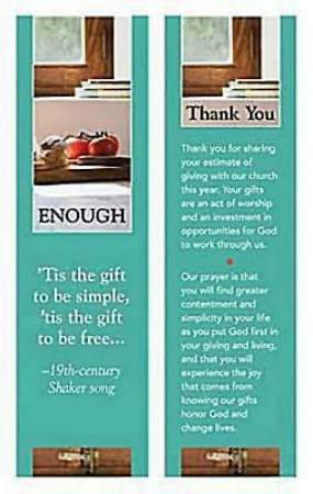 Enough Stewardship Program Bookmark (packages of 25)