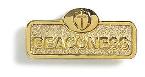Brass Deaconess with Cross Leadership Badge