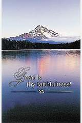 Great is Thy Faithfulness Bulletin, Regular Size (Package of 50)