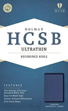 HCSB Ultrathin Reference Bible, Cobalt Blue Leathertouch, Indexed