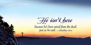 He Isn't Here Easter Sunrise Offering Envelope 2015 (Package of 50)