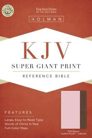 KJV Super Giant Print Reference Bible, Pink/Brown Leathertouch Indexed