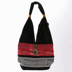 Thai Cloth Bag - Multi-Red