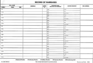Record of Marriages (Package of 50)