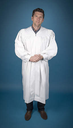 Pastor's baptismal robe, regular, white, reg