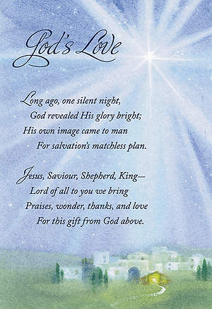 Boxed Cards Christmas God`s Love Pack of 18