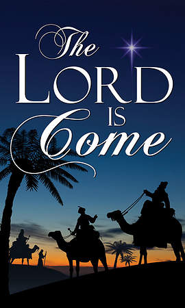 Nativity Series Lord is Come Banner 3' x 5'