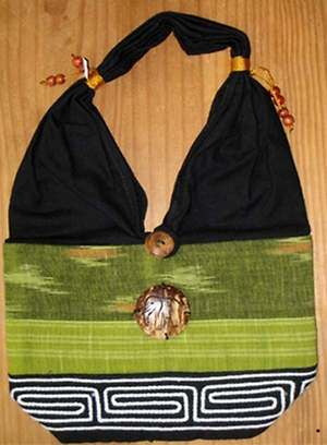 Thai Cloth Bag - Lime and Green