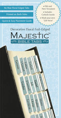 Bible Tabs Majestic Floral Edged