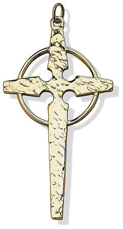 GOLD PLATED CONTEMPORARY CELTIC CLERGY CROSS
