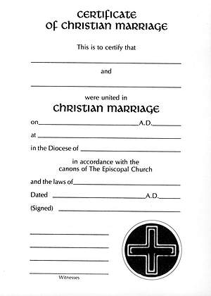 Embossed Marriage Certificate #8145 [Pack of 12 w/envelope]