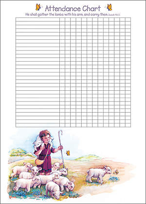 The Little Shepherd Boy Attendance Chart