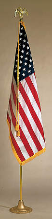 American 3X5 8 Ft Pole Indoor Flag Set