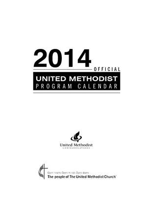 "Official United Methodist Program Calendar 2014 Pocket (3 3/4"" X 6 1/4"")"