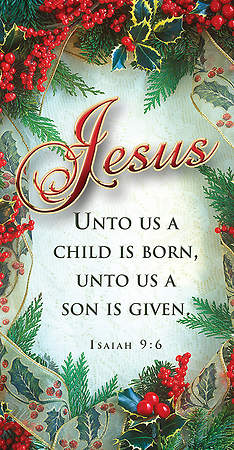 Christmas Jesus Offering Envelope Isaiah 9:6 KJV (Package of 100)