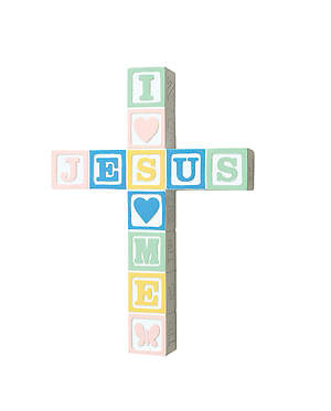 Jesus Loves Me Pastel Cross