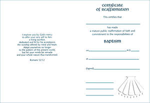 Embossed Reaffirmation Certificate #8138 [Pack of 12]