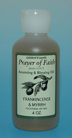 Anointing Oil Scented with Frankincense and Myrrh 4 Oz Bottle