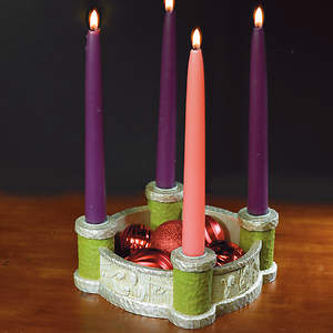 Bethlehem Scenes Advent Wreath Candleholder