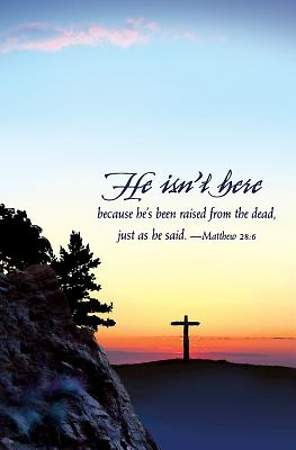 He Isn't Here Easter Sunrise Bulletin 2015, Regular (Package of 50)