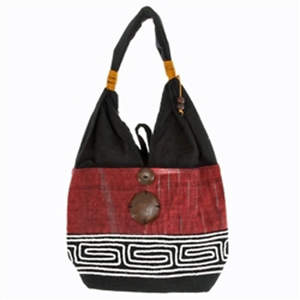 Thai Cloth Bag - Reddish Brown