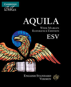 ESV Wide-Margin Reference Black Goatskin Es746xrm