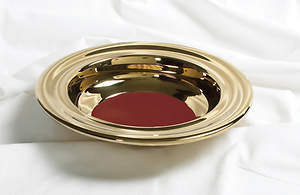 Offering Plate RemembranceWare Red Felt Brass