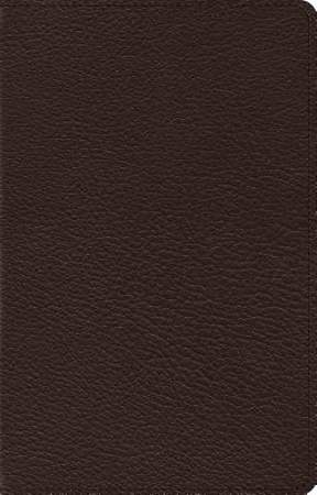 ESV Heirloom Large Print Thinline Reference Bible (Goatskin, Deep Brown)