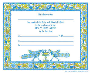 First Communion Certificate 8592C [Pack of 12 w/envelope]