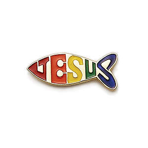 Fish Jesus Pin