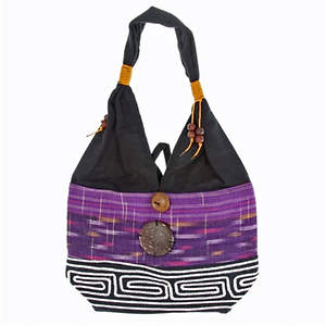 Thai Cloth Bag - Large  Purple