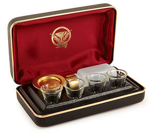 Portable 4 Cup Communion Set with Symbol
