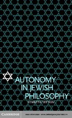 Autonomy in Jewish Philosophy [Adobe Ebook]