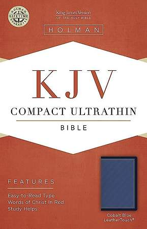 KJV Compact Ultrathin Bible, Cobalt Blue Leathertouch