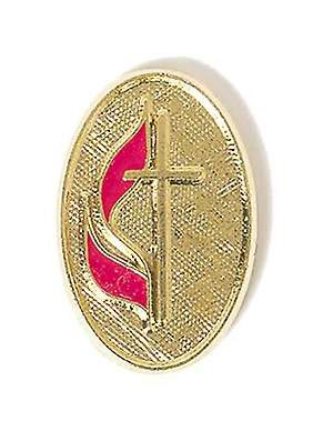 United Methodist Oval Brite Gold Lapel Pin