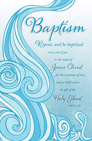 Baptism Bulletin - Acts 2:38 - Regular 8 1/2