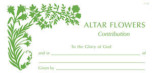 Altar Flower Donation Envelopes #1117E [Pack of 50]