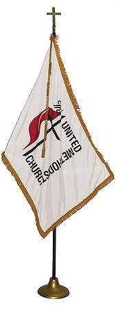TEST PRODUCT - United Methodist Indoor Flag Set - 3' X 5' Flag with 8' Pole